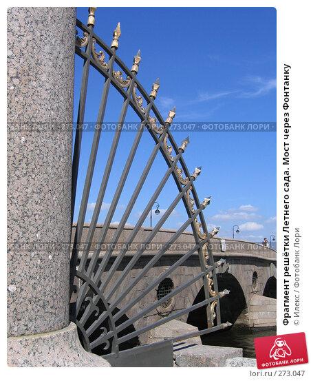Фрагмент решётки Летнего сада. Мост через Фонтанку, фото № 273047, снято 24 июня 2006 г. (c) Морковкин Терентий / Фотобанк Лори