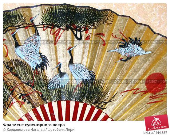 Фрагмент сувенирного веера, фото № 144867, снято 30 ноября 2007 г. (c) Кардаполова Наталья / Фотобанк Лори
