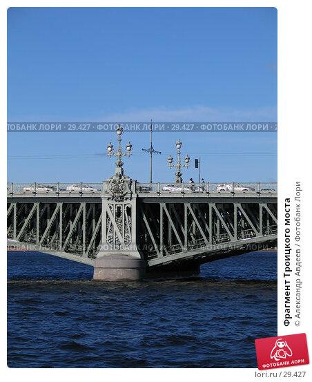 Фрагмент Троицкого моста, фото № 29427, снято 28 июня 2005 г. (c) Александр Авдеев / Фотобанк Лори