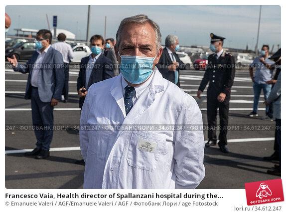 Francesco Vaia, Health director of Spallanzani hospital during the... Редакционное фото, фотограф Emanuele Valeri / AGF/Emanuele Valeri / AGF / age Fotostock / Фотобанк Лори