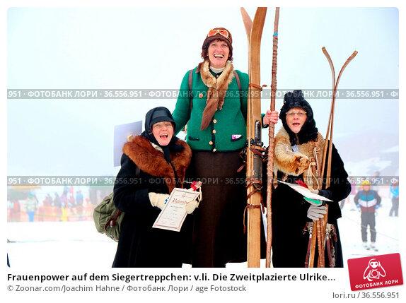 Frauenpower auf dem Siegertreppchen: v.li. Die Zweitplazierte Ulrike... Стоковое фото, фотограф Zoonar.com/Joachim Hahne / age Fotostock / Фотобанк Лори