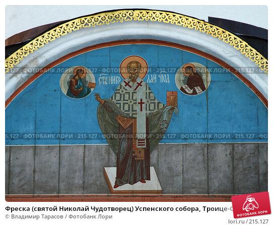 Фреска (святой Николай Чудотворец) Успенского собора, Троице-Сергиева лавра, фото № 215127, снято 4 января 2008 г. (c) Владимир Тарасов / Фотобанк Лори