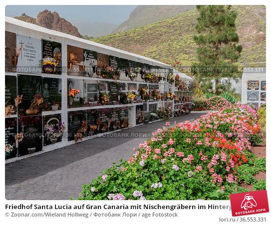 Friedhof Santa Lucia auf Gran Canaria mit Nischengräbern im Hintergrund... Стоковое фото, фотограф Zoonar.com/Wieland Hollweg / age Fotostock / Фотобанк Лори