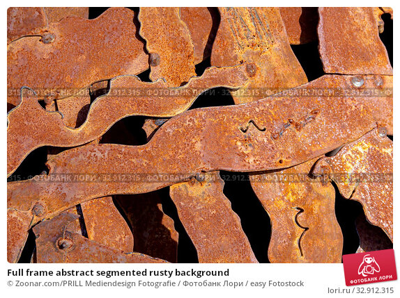 Full frame abstract segmented rusty background. Стоковое фото, фотограф Zoonar.com/PRILL Mediendesign Fotografie / easy Fotostock / Фотобанк Лори