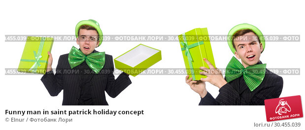 Funny man in saint patrick holiday concept. Стоковое фото, фотограф Elnur / Фотобанк Лори