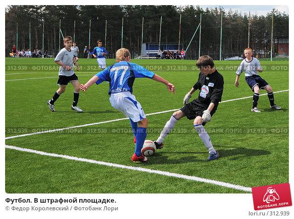 Футбол. В штрафной площадке., фото № 312939, снято 3 июня 2008 г. (c) Федор Королевский / Фотобанк Лори