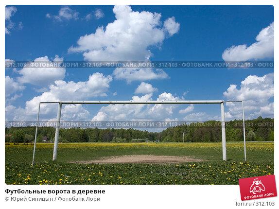 Футбольные ворота в деревне, фото № 312103, снято 18 мая 2008 г. (c) Юрий Синицын / Фотобанк Лори