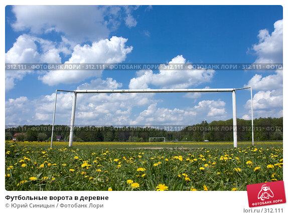 Футбольные ворота в деревне, фото № 312111, снято 18 мая 2008 г. (c) Юрий Синицын / Фотобанк Лори
