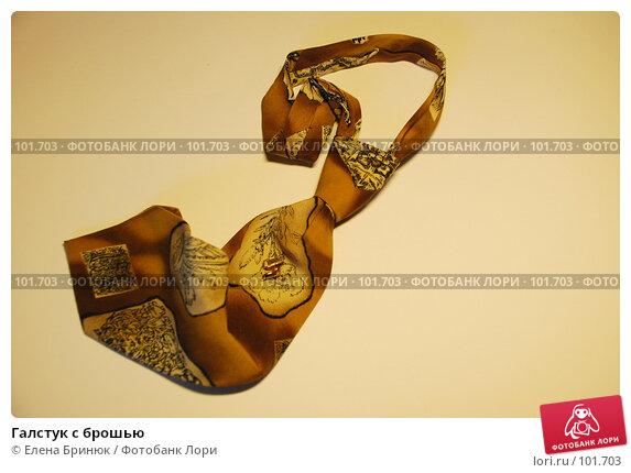 Купить «Галстук с брошью», фото № 101703, снято 21 октября 2007 г. (c) Елена Бринюк / Фотобанк Лори