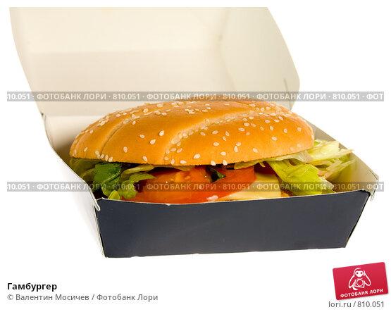 Купить «Гамбургер», фото № 810051, снято 5 октября 2008 г. (c) Валентин Мосичев / Фотобанк Лори