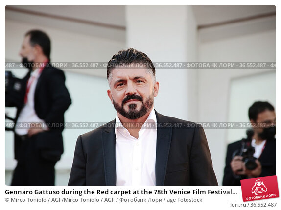 Gennaro Gattuso during the Red carpet at the 78th Venice Film Festival... Редакционное фото, фотограф Mirco Toniolo / AGF/Mirco Toniolo / AGF / age Fotostock / Фотобанк Лори