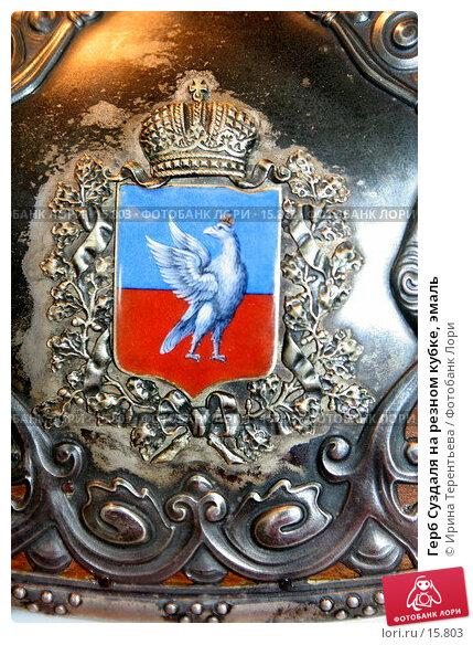 Герб Суздаля на резном кубке, эмаль, эксклюзивное фото № 15803, снято 6 ноября 2006 г. (c) Ирина Терентьева / Фотобанк Лори