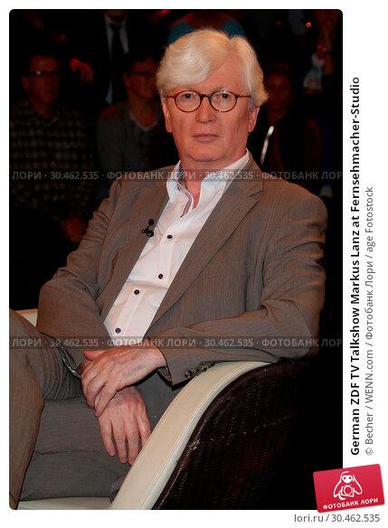 German ZDF TV Talkshow Markus Lanz at Fernsehmacher-Studio (2017 год). Редакционное фото, фотограф Becher / WENN.com / age Fotostock / Фотобанк Лори