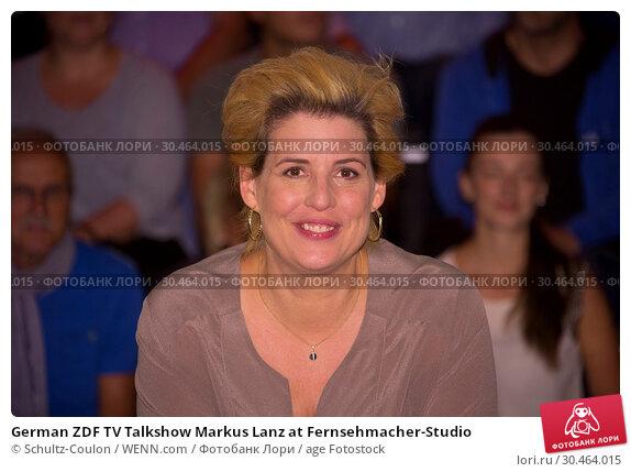 German ZDF TV Talkshow Markus Lanz at Fernsehmacher-Studio (2017 год). Редакционное фото, фотограф Schultz-Coulon / WENN.com / age Fotostock / Фотобанк Лори