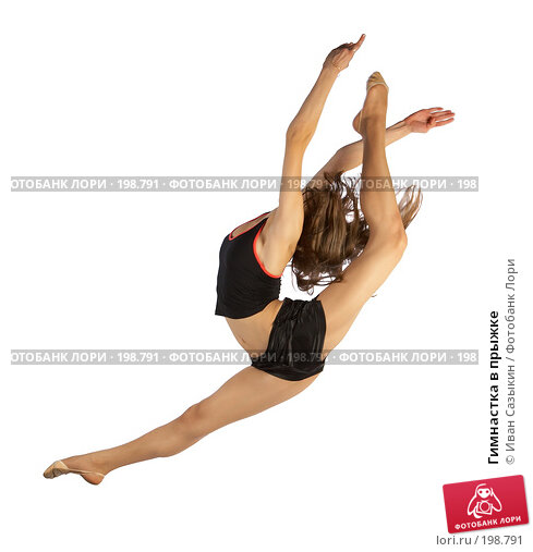 Гимнастка в прыжке, фото № 198791, снято 20 января 2017 г. (c) Иван Сазыкин / Фотобанк Лори