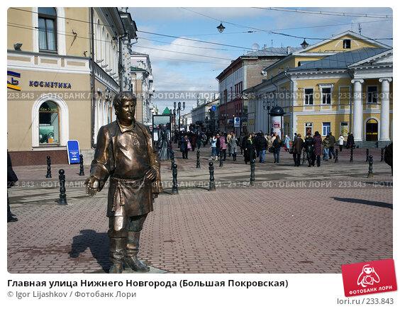Главная улица Нижнего Новгорода (Большая Покровская), фото № 233843, снято 24 марта 2008 г. (c) Igor Lijashkov / Фотобанк Лори