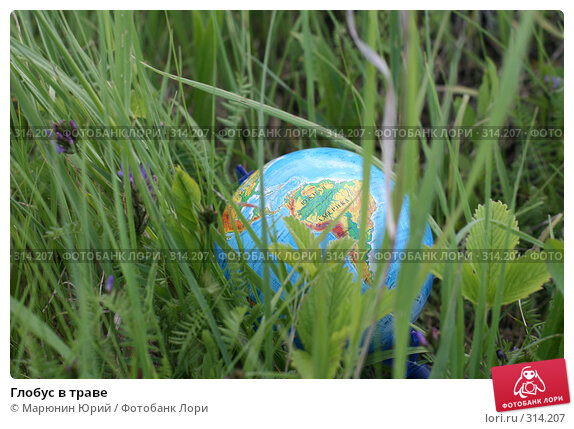 Глобус в траве, фото № 314207, снято 28 мая 2008 г. (c) Марюнин Юрий / Фотобанк Лори