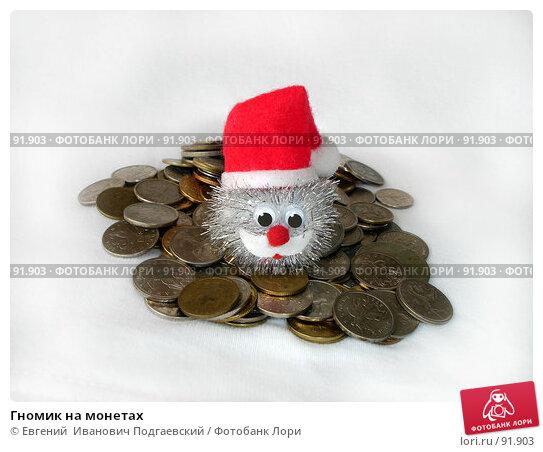 Гномик на монетах, фото № 91903, снято 26 июля 2017 г. (c) Евгений  Иванович Подгаевский / Фотобанк Лори