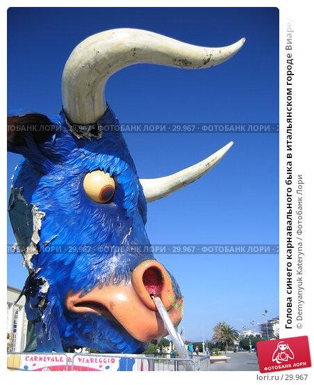 Голова синего карнавального быка в итальянском городе Виареджио, фото № 29967, снято 4 марта 2007 г. (c) Demyanyuk Kateryna / Фотобанк Лори