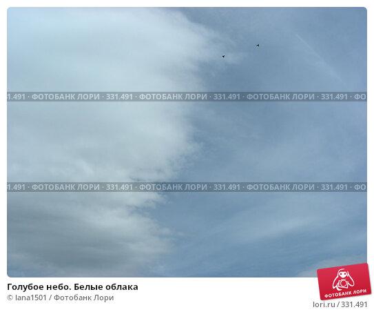 Голубое небо. Белые облака, эксклюзивное фото № 331491, снято 9 июня 2008 г. (c) lana1501 / Фотобанк Лори