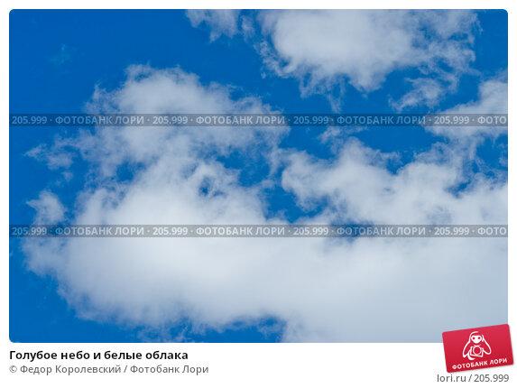 Купить «Голубое небо и белые облака», фото № 205999, снято 15 февраля 2008 г. (c) Федор Королевский / Фотобанк Лори
