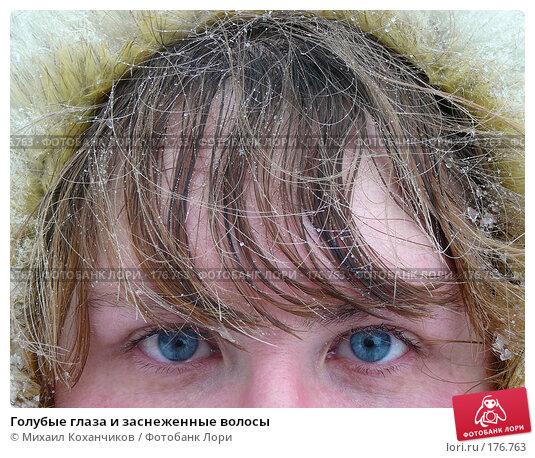 Голубые глаза и заснеженные волосы, фото № 176763, снято 13 января 2008 г. (c) Михаил Коханчиков / Фотобанк Лори