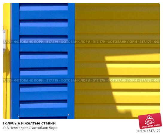 Купить «Голубые и желтые ставни», фото № 317179, снято 27 мая 2005 г. (c) A Челмодеев / Фотобанк Лори