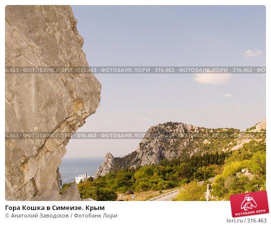 Гора Кошка в Симеизе. Крым, фото № 316463, снято 12 сентября 2005 г. (c) Анатолий Заводсков / Фотобанк Лори