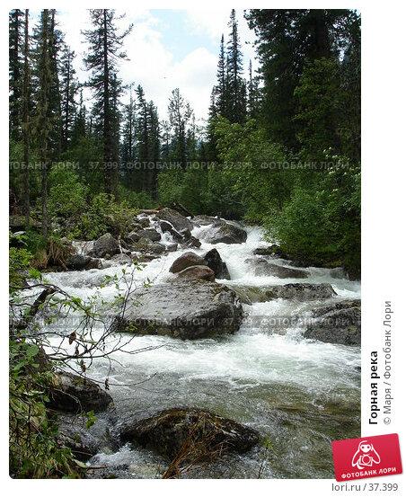 Купить «Горная река», фото № 37399, снято 6 июля 2006 г. (c) Маря / Фотобанк Лори