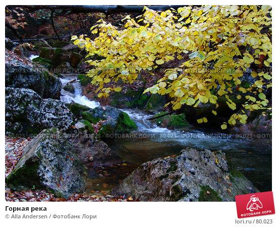 Горная река, фото № 80023, снято 27 октября 2006 г. (c) Alla Andersen / Фотобанк Лори