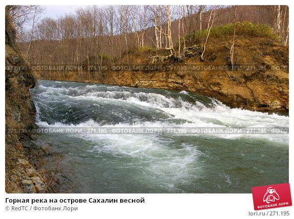 Горная река на острове Сахалин весной, фото № 271195, снято 2 мая 2008 г. (c) RedTC / Фотобанк Лори