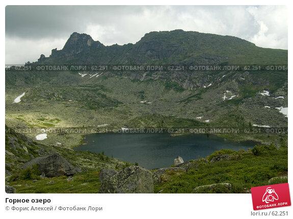 Горное озеро, фото № 62251, снято 14 июля 2007 г. (c) Форис Алексей / Фотобанк Лори