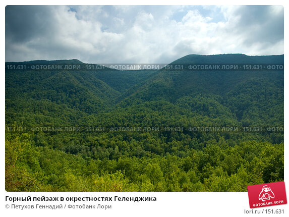 Купить «Горный пейзаж в окрестностях Геленджика», фото № 151631, снято 8 августа 2007 г. (c) Петухов Геннадий / Фотобанк Лори