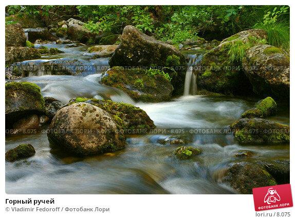 Купить «Горный ручей », фото № 8075, снято 2 августа 2005 г. (c) Vladimir Fedoroff / Фотобанк Лори