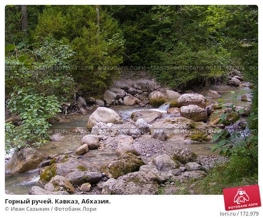 Купить «Горный ручей. Кавказ, Абхазия.», фото № 172979, снято 8 августа 2007 г. (c) Иван Сазыкин / Фотобанк Лори