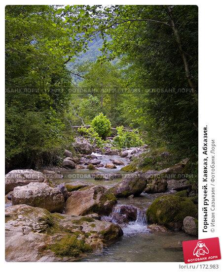 Горный ручей. Кавказ, Абхазия., фото № 172983, снято 8 августа 2007 г. (c) Иван Сазыкин / Фотобанк Лори