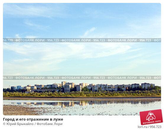 Купить «Город и его отражение в луже», фото № 956723, снято 7 июня 2009 г. (c) Юрий Брыкайло / Фотобанк Лори