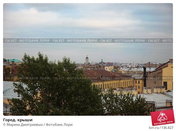 Купить «Город. крыши», фото № 136827, снято 13 октября 2006 г. (c) Марина Дмитриевых / Фотобанк Лори
