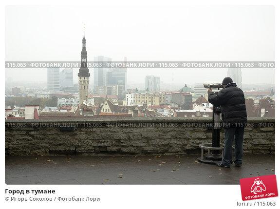 Город в тумане, фото № 115063, снято 30 марта 2017 г. (c) Игорь Соколов / Фотобанк Лори