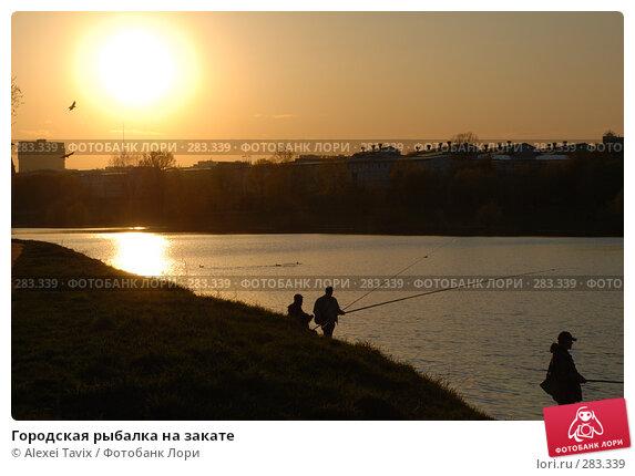 Городская рыбалка на закате, эксклюзивное фото № 283339, снято 26 апреля 2008 г. (c) Alexei Tavix / Фотобанк Лори
