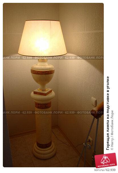 Горящая лампа на подставке в уголке, фото № 62939, снято 24 июня 2007 г. (c) Harry / Фотобанк Лори