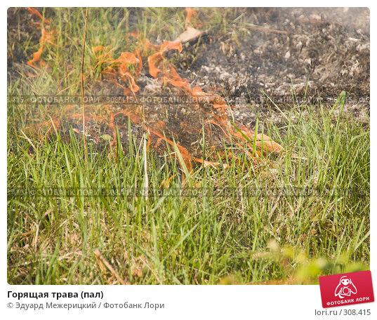 Горящая трава (пал), фото № 308415, снято 12 мая 2008 г. (c) Эдуард Межерицкий / Фотобанк Лори