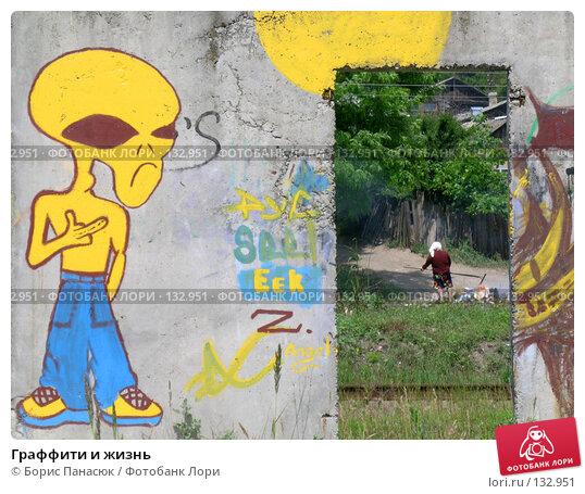 Граффити и жизнь, фото № 132951, снято 5 июня 2004 г. (c) Борис Панасюк / Фотобанк Лори