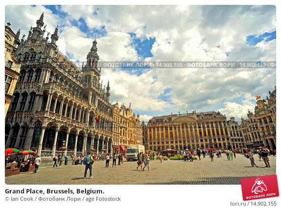 Купить «Grand Place, Brussels, Belgium.», фото № 14902155, снято 22 июня 2018 г. (c) age Fotostock / Фотобанк Лори