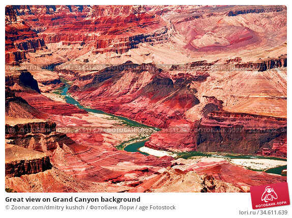 Great view on Grand Canyon background. Стоковое фото, фотограф Zoonar.com/dmitry kushch / age Fotostock / Фотобанк Лори