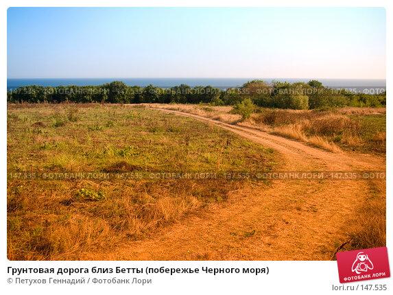 Грунтовая дорога близ Бетты (побережье Черного моря), фото № 147535, снято 6 августа 2007 г. (c) Петухов Геннадий / Фотобанк Лори