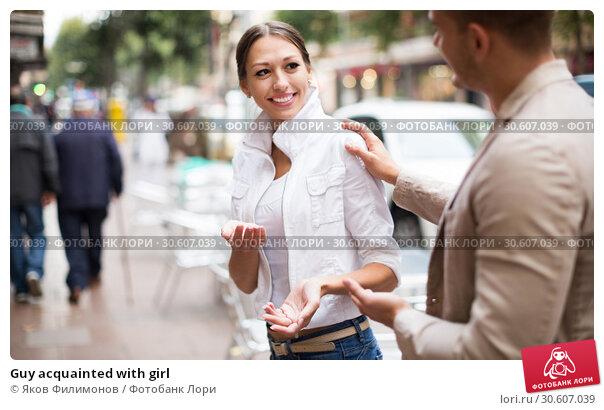 Купить «Guy acquainted with girl», фото № 30607039, снято 27 мая 2020 г. (c) Яков Филимонов / Фотобанк Лори