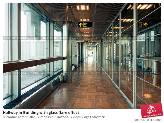 Hallway in Building with glass flare effect. Стоковое фото, фотограф Zoonar.com/Ruslan Gilmanshin / age Fotostock / Фотобанк Лори