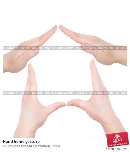 Купить «Hand home gesture», фото № 183295, снято 12 января 2008 г. (c) Насыров Руслан / Фотобанк Лори
