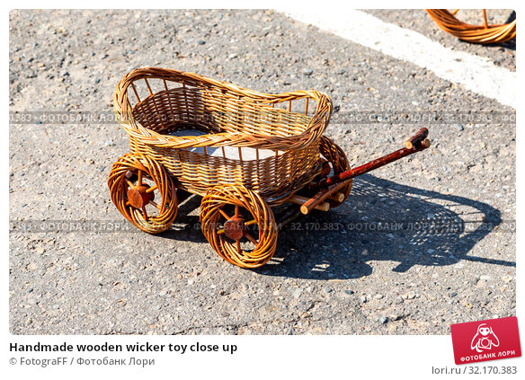 Купить «Handmade wooden wicker toy close up», фото № 32170383, снято 18 августа 2018 г. (c) FotograFF / Фотобанк Лори